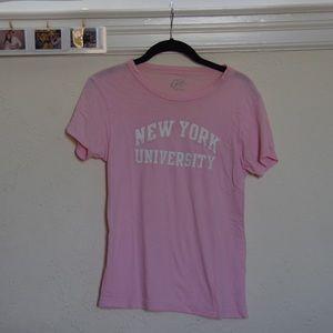 nyu pink top